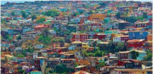 maisons colorées chili